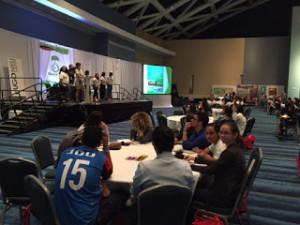 Miembros del Club FEST participando de las distintas dinámicas y conferencias llevadas a cabo dentro del Congreso.