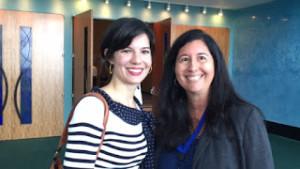 Ingrid Vila (Presidenta Internacional de Basura Cero) y Providencia Laracuente (Maestra moderadora del Club FEST).