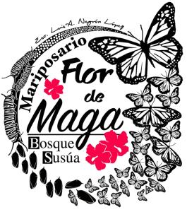 LogoOficial: Mariposario, Flor de Maga