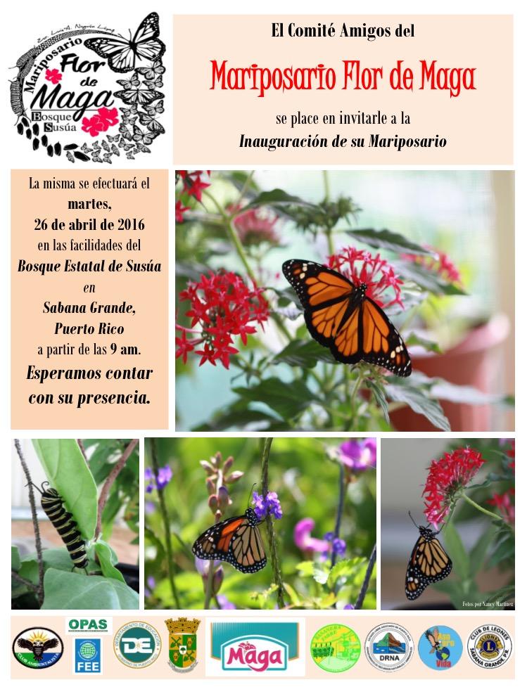 Invitación: Mariposario Flor Maga
